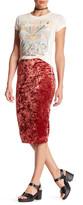 Hip Crushed Velvet Skirt