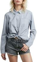 Volcom Champ Stripe Tie Hem Top