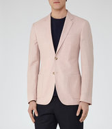 Reiss Tate B Wool And Linen Blazer