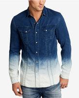 William Rast Men's Oak Dip-Dye Denim Shirt