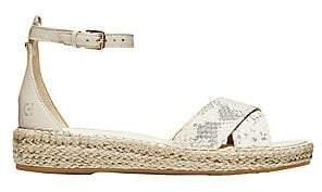 Cole Haan Women's CloudFeel Snakeskin-Embossed Leather Espadrille Sandals