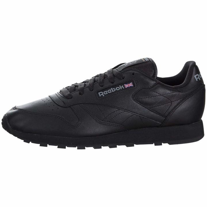 reebok classic trainers black mens
