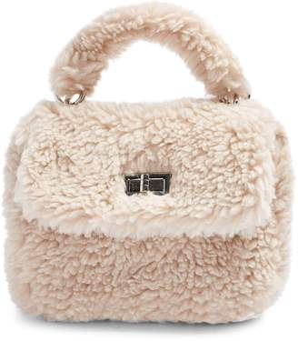 Topshop Cozy Faux Shearling Grab Bag