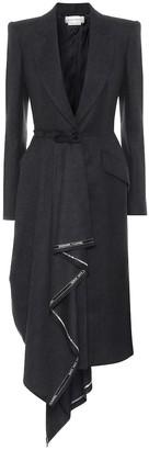 Alexander McQueen Wool flannel blazer dress