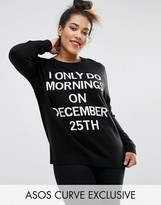 Asos 'i Only Do Morning's On The 25th Of December' Christmas Jumper