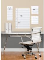 5 in. x 19 in. Notebook Paper Dry Erase Peel and Stick Giant Wall Decals