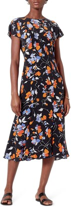 Joie Haben Floral Silk Midi Dress