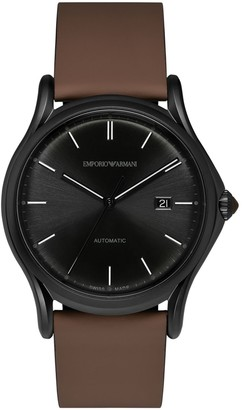 Emporio Armani Swiss Made Men's Swiss Quartz Stainless Steel and Brown Leather Dress Watch (Model: ARS3017)