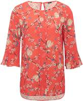 M&Co Floral print dobby blouse