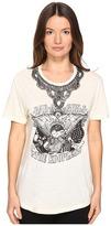 The Kooples Embroidery Mix Linen Short Sleeve Tee Women's T Shirt