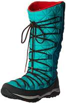 Columbia Women's Loveland Omni-Heat Snow Boot, Cool Grey/Laser Red, 9 B US