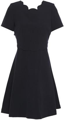 Claudie Pierlot Scalloped Cutout Crepe Mini Dress