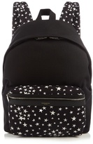 Saint Laurent City Star-print Canvas Backpack