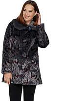 Dennis Basso Platinum Collection Jacquard Faux Fur Coat