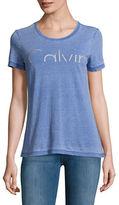 Calvin Klein Jeans Textured Scoopneck Tee