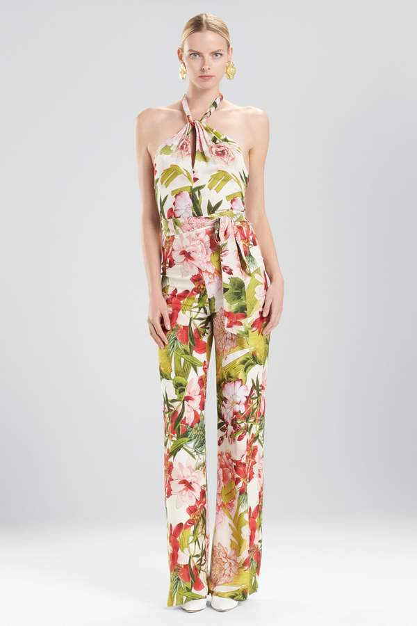 Natori Josie Paradise Floral Jumpsuit