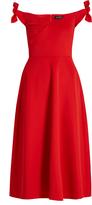 Saloni Ruth off-the-shoulder neoprene dress