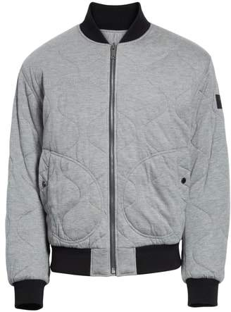Burberry Campton Reversible Quilted Jersey Bomber Jacket