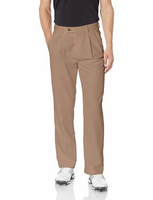 Louis Raphael Men's Pleated Performance Soil Wicking Golf Pant