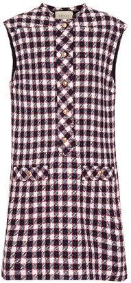 Gucci Wool-blend tweed minidress