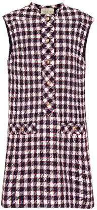 Gucci Wool-blend tweed minidress