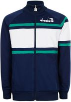 Topman DIADORA Blue and White Panelled Track Top