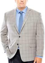 COLLECTION Collection by Michael Strahan Grey Windowpane Sport Coat-Big and Tall