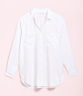 LOFT Lou & Grey Fluid Twill Pocket Tunic Shirt
