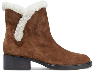 Sigerson Morrison Shearling-trimmed Suede Ankle Boots