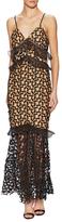 Sleeveless Crochet Ruffle Dress