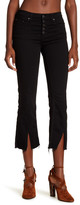 Free People Cropped Front Button Straight Leg Jeans