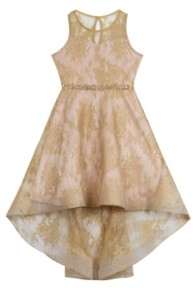 Rare Editions Big Girls Foil Lace Dress