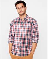 Express classic fit button collar flannel shirt