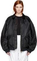 Y/Project Y-Project Black Nylon Bomber Jacket