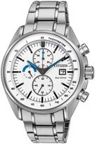 Citizen Silvertone Chrono Bracelet Watch - Men