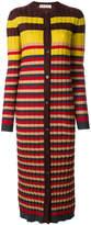 Marni longline striped cardigan