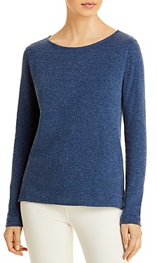Majestic Filatures Cotton & Cashmere Long Sleeve Boat Neck Top