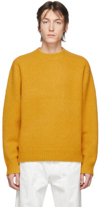 Acne Studios Orange Wool Cashmere Crewneck Sweater