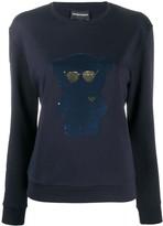 Emporio Armani sequined-bear sweatshirt