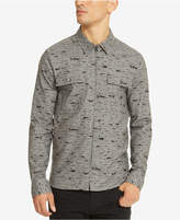 Kenneth Cole Reaction Men's Printed Zip-Front Shirt
