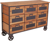 Houseology OH Industrial 9 Drawer Apothecary Chest