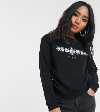 ASOS DESIGN Petite sweatshirt with la luna motif