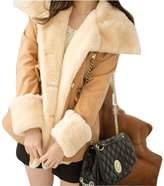 Gillberry Women's Jacket Gillberry Winter Warm Double Breasted Wool Blend Jacket Women Coat Outwear (S, )