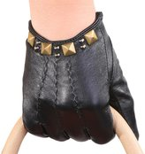 Mandy's Women's Winter Driving Rivet Nappa Leather Dancing Gloves
