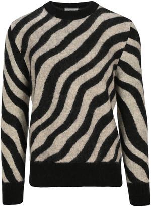 Ami Alexandre Mattiussi Ami Zebra Striped Sweater