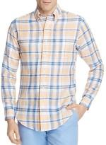 Brooks Brothers Regent Linen Plaid Slim Fit Button-Down Shirt
