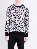 Diesel K-Flaming abstract-pattern stretch-cotton sweatshirt