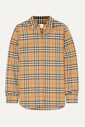 Burberry - Net Sustain Checked Cotton-poplin Shirt - Beige
