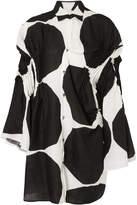 Junya Watanabe Marimekko Kivet Polka-dot Linen Dress - Black