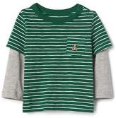 Gap Stripe 2-in-1 pocket tee
